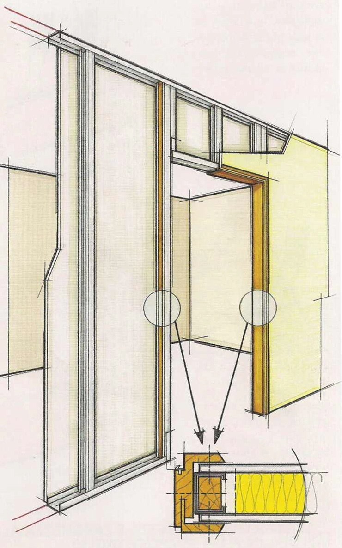 Montaggio Porta Filo Muro Cartongesso g.s. colori | fasi applicative